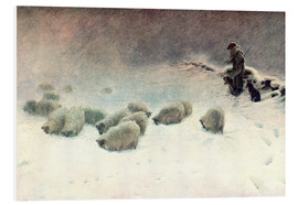 Stampa su schiuma dura  The Cheerless Winter's Day - Joseph Farquharson