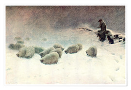 Poster Premium  The Cheerless Winter's Day - Joseph Farquharson