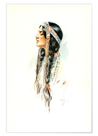 Poster Premium  Red Indian squaw - Harrison Fisher