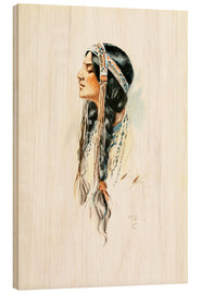 Legno  Red Indian squaw - Harrison Fisher
