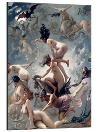 Alluminio Dibond  Witches going to their Sabbath - Luis Ricardo Falero