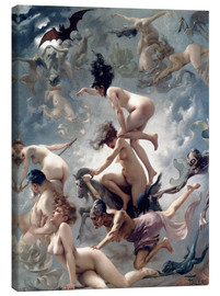 Tela  Witches going to their Sabbath - Luis Ricardo Falero