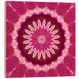 Legno  Mandala pinkblossom with flower of life - Christine Bässler