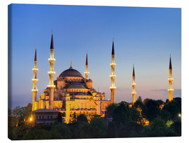 Stampa su tela  Blue Mosque at twilight - Circumnavigation
