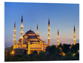 Stampa su schiuma dura  Blue Mosque at twilight - Circumnavigation