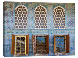 Stampa su tela  Islamic windows of the Topkapi palace - Circumnavigation