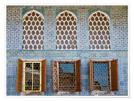 Poster  Islamic windows of the Topkapi palace - Circumnavigation