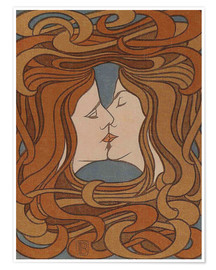 Poster  The Kiss - Peter Behrens