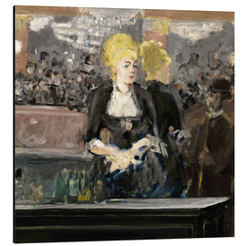 Stampa su alluminio  Bar at the Folies Bergère - Edouard Manet