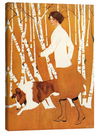 Stampa su tela  Birches - Clarence Coles Phillips