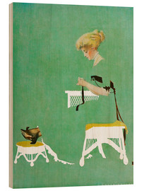 Stampa su legno  Home ties - Clarence Coles Phillips