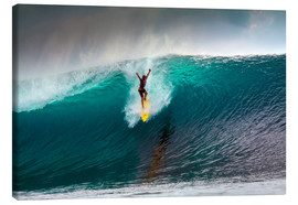 Stampa su tela  Extreme surfing huge wave - Mentawai Islands - Paul Kennedy