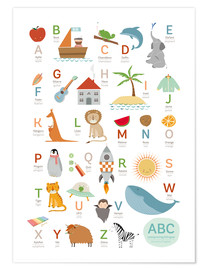 Poster ABC German - English