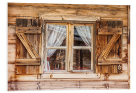 Christian Müringer - Window of alps cabin in South Tyrol (Italy)