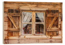 Legno  Window of alps cabin in South Tyrol (Italy) - Christian Müringer