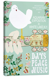 Stampa su tela  Woodstock Collage - GreenNest