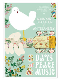 Poster Premium  Woodstock Collage - GreenNest