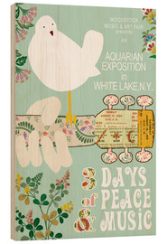 Stampa su legno  Woodstock Collage - GreenNest