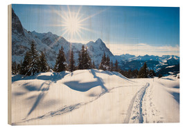Stampa su legno  Winter scenery at Grindelwald - Peter Wey