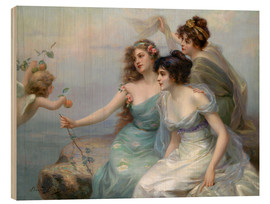 Stampa su legno  The Three Graces - Edouard Bisson