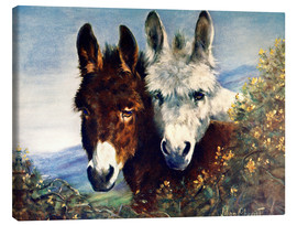 Stampa su tela  The Wise Ones (Donkeys) - Lilian Cheviot