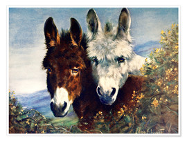 Poster  The Wise Ones (Donkeys) - Lilian Cheviot