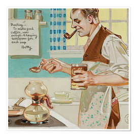 Poster  Make good coffee - Joseph Christian Leyendecker