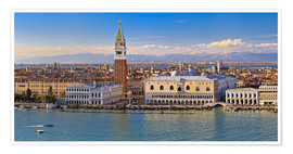 Poster Premium Venice view to the Alps