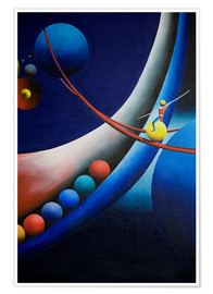 Poster Premium Tightrope walk among planets