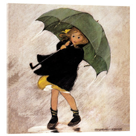Vetro acrilico  Rainy day - Jessie Willcox Smith