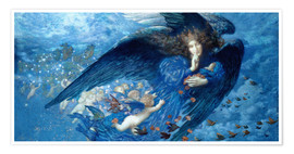 Poster Premium  Night with her Train of Stars - Edward Robert Hughes