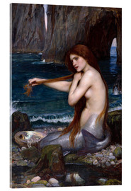 Stampa su vetro acrilico  La sirena - John William Waterhouse