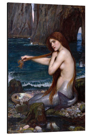 Stampa su alluminio  La sirena - John William Waterhouse