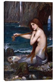 Stampa su tela  La sirena - John William Waterhouse