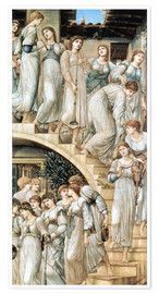 Poster Premium  Le scale dorate - Edward Burne-Jones