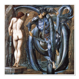Poster Premium  The Doom Fulfilled - Edward Burne-Jones