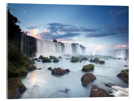 Vetro acrilico  Dramatic sunset over Iguacu waterfalls - Alex Saberi