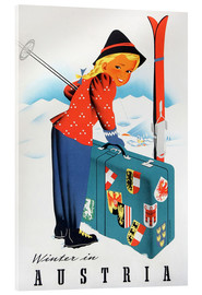 Stampa su vetro acrilico  Winter in Austria - Travel Collection