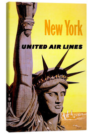 Stampa su tela  New York United Air Lines - Travel Collection