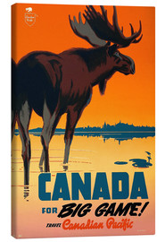 Stampa su tela  Canada travel for big game - Travel Collection