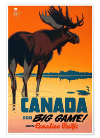 Poster Premium  Canada travel for big game - Travel Collection