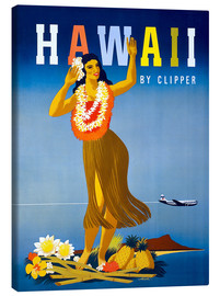 Stampa su tela  Hawaii by Clipper vintage travel - Travel Collection