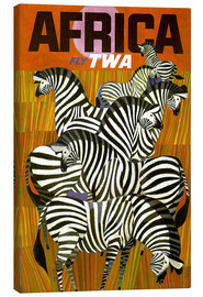 Stampa su tela  Africa Fly TWA - Travel Collection
