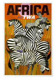 Poster Premium  Africa Fly TWA - Travel Collection