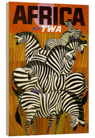 Stampa su legno  Africa Fly TWA - Travel Collection
