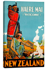 Stampa su tela  Haere Mai welcome to New Zealand - Travel Collection