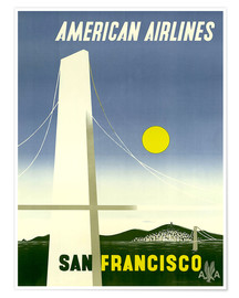 Poster Premium  American Airlines San Francisco - Travel Collection