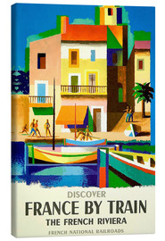 Stampa su tela  France by Train - Travel Collection