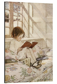 Alluminio Dibond  Picture Books in Winter - Jessie Willcox Smith