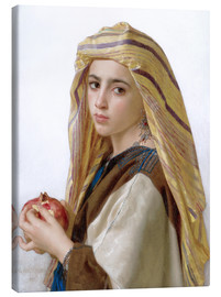 Stampa su tela  Girl with a pomegranate - William Adolphe Bouguereau